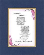 Heartfelt Poem for Friendship –The Blessing of Friendship on 11x14 Double Mat  - $15.95