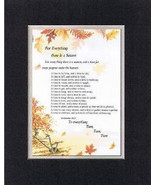 Heartfelt Plaque for Inspirations - For Everything There is a Season Poe... - $19.95