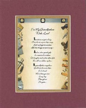 Heartfelt Poem for Grandfather – For My Grandfather, with Love on 11x14 Double  - $15.95