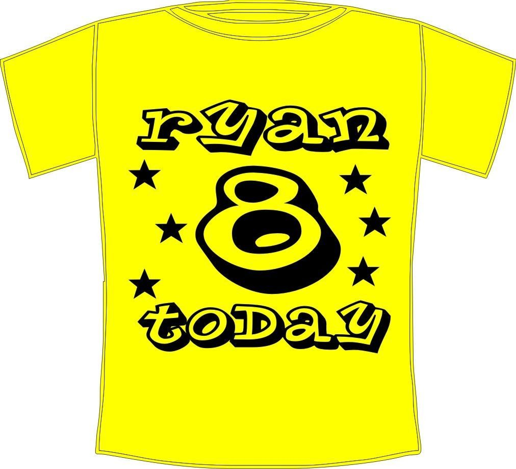 Personalised printed name boys birthday t shirt hip hop for Print name on shirt