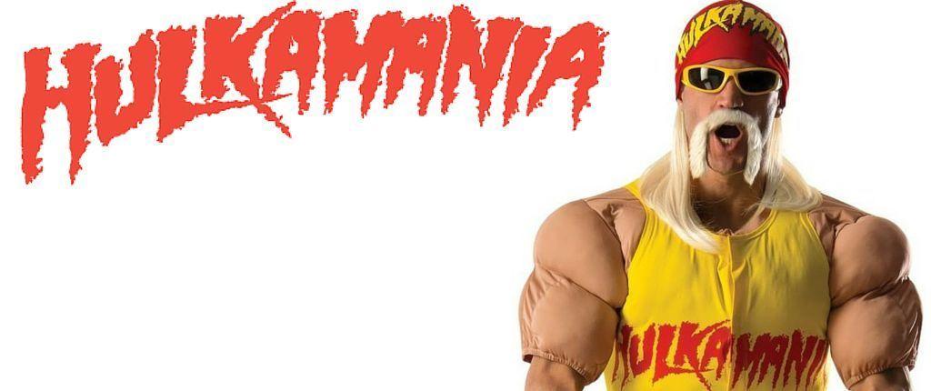 Adult Deluxe Hulk Hogan WWE Grand Heritage Cosplay Halloween Costume