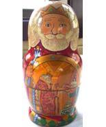 RUSSIAN MATRYOSHKA NESTING DOLL 5PC GOLDEN COCK... - $25.00