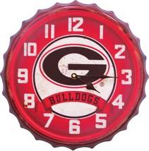 University Of Georgia Bottle Cap Clock - £22.48 GBP