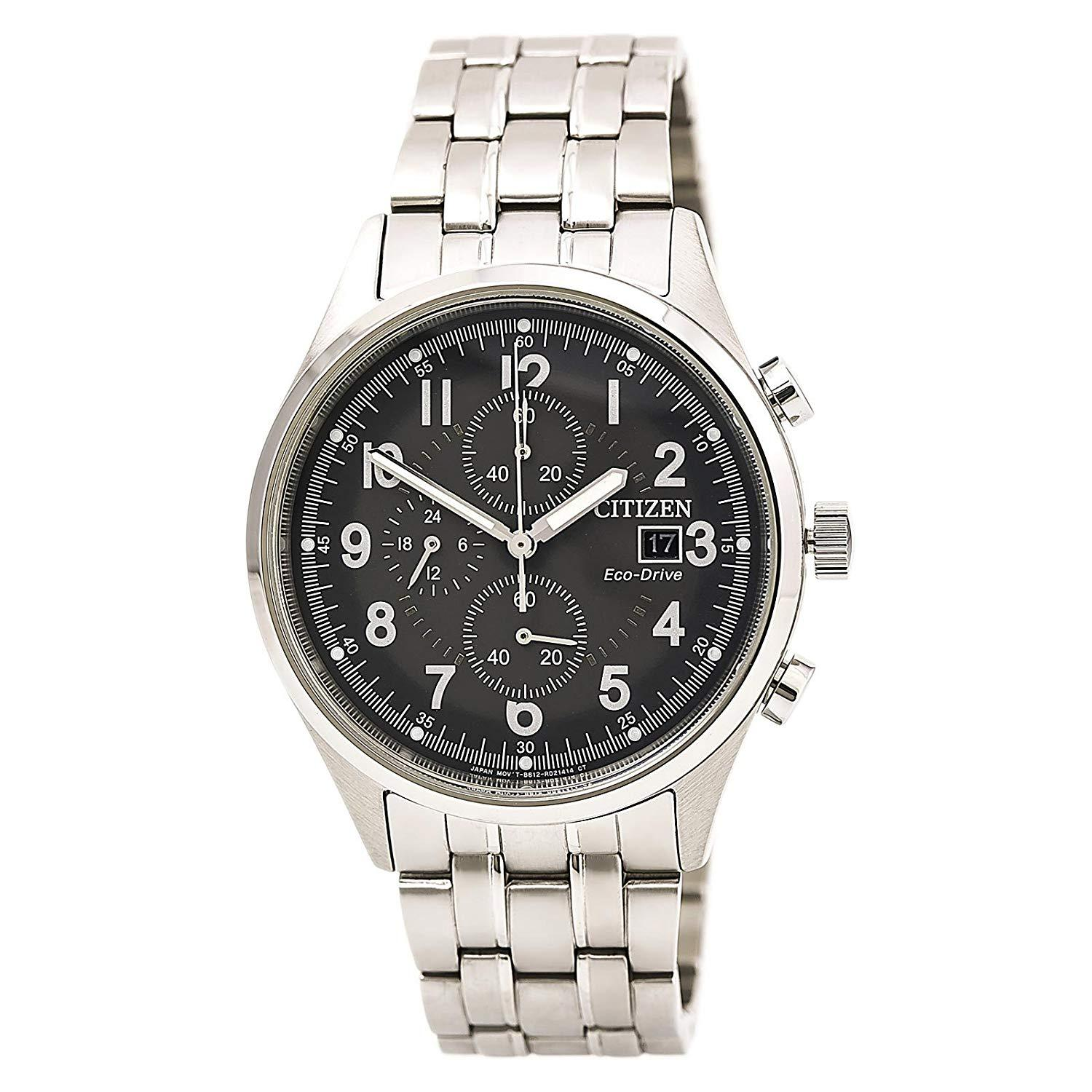 Citizen Mens Watch Chronograph Stainless Steel Eco-Drive CA0620-59H