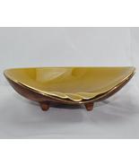 Treasure Craft vintage gold glaze gold trim ashtray 1963 - $9.50