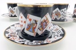 Vintage : A novelty Coffee Cup & Saucer by Tiffany and Co - Card Players - $85.96