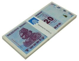 Zimbabwe 20 Dollars X 50 Pieces (PCS), 2009,P-95,UNC,Half Bundle,50&100 ... - $44.99