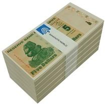 Zimbabwe 5 Dollars X 500 Pieces (PCS), 2009, P-93,UNC,Half Brick,50&100 ... - $239.99