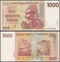 Zimbabwe 1,000 (1000) Dollars, 2007, P-71, UNC, 50 & 100 Trillion Series - $4.99