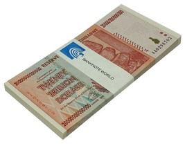 Zimbabwe 20 Trillion Dollars X 50 Pieces (PCS), AA/2008, P-89, UNC, Half... - $1,979.99