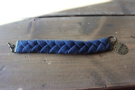 Blue Cloth FEED Bracelet 7.25 inches - $15.84