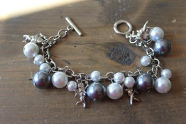 """Faux Pearl Angel Charm Bracelet 7.5"""" - $14.85"""