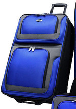 "US Traveler New Yorker Navy Blue 25"" Lightweight Expand Rolling Luggage ... - $49.49"