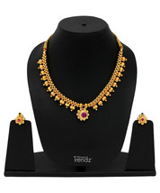 Womens Trendz Traditional, Ethnic and Antique 24K Gold Plated  Necklace and Earr - $40.00
