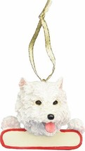 E&S Pets Westie Ornament White Santa's Pals with Personalized Name Plate... - $20.34