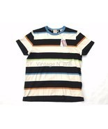Levis Vintage LVC Casuals Mens M 60s Beige/Black Striped Ringer Pocket T... - £63.52 GBP