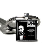 Godfather Keyring Marlon Brando Godfather Keyfob Mens Gift Handmade in t... - $6.29