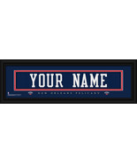 New Orleans Pelicans Personalized Jersey Nameplate Framed Print - $38.50