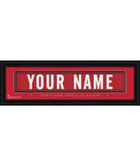 Portland Trailblazers Personalized Jersey Nameplate Framed Print - $38.50