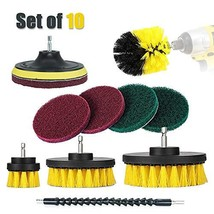 Stella Drill Brush and Pad Kit with Extension - All Purpose Power Scrubber Clean