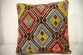 Kilim Pillows |16x16 | Decorative Pillows | 1052 | Accent Pillows turkis... - $38.00