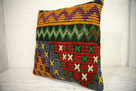 Kilim Pillows |16x16 | Decorative Pillows | 1092 | Accent Pillows turkis... - $38.00