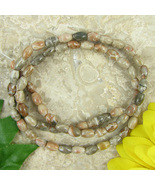 "Fossil Coral 6x4mm Rice Beads - 16"" Strand Gemstone - $6.98"