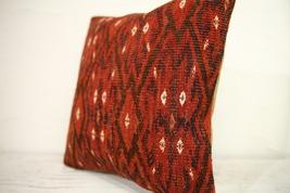 Kilim Pillows |16x16 | Decorative Pillows | 1269 | Accent Pillows turkis... - $49.00