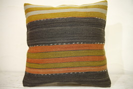 Kilim Pillows |16x16 | Decorative Pillows | 1287 | Accent Pillows turkis... - $38.00