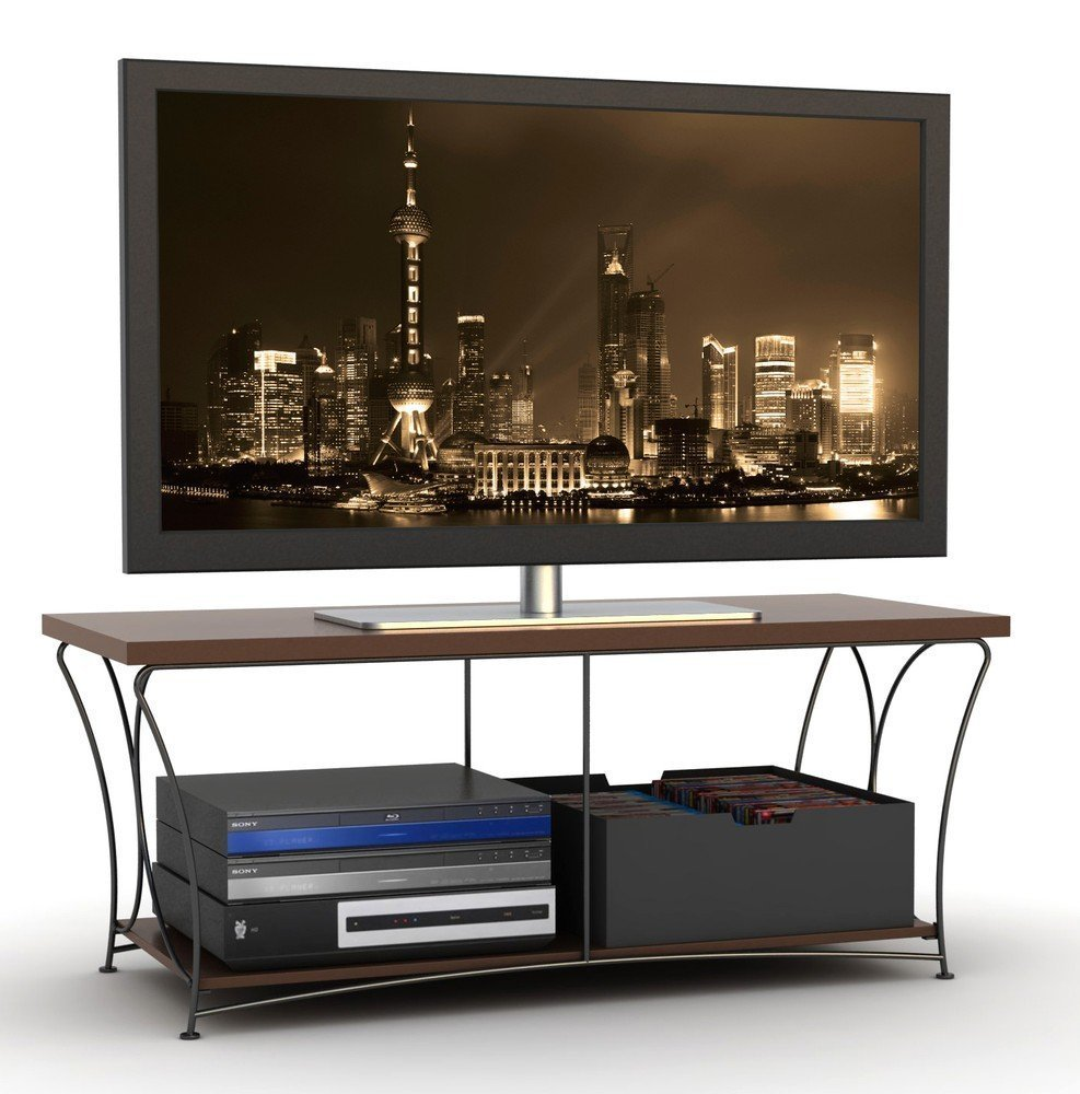 black mocha tv stand flat screen 50 inch television entertainment center new 52 entertainment. Black Bedroom Furniture Sets. Home Design Ideas