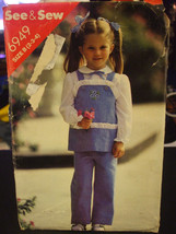 Butterick 6949 Toddler Girl's Tunic & Pants Pattern - Size 2/3/4 - $5.35