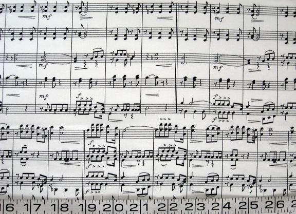 Music black staves on white