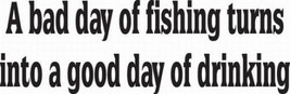 #1/3 Fish Decal Vinyl Graphic Pole Bait Car Truck Suv Auto Trailer Semi Vehicle - $10.99