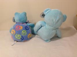 Set of 2 Wishpets Teddy Bear & Toad Frog Plush Stuffed Animal Toys Light Blue image 2