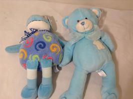 Set of 2 Wishpets Teddy Bear & Toad Frog Plush Stuffed Animal Toys Light Blue image 4
