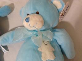 Set of 2 Wishpets Teddy Bear & Toad Frog Plush Stuffed Animal Toys Light Blue image 5