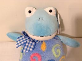 Set of 2 Wishpets Teddy Bear & Toad Frog Plush Stuffed Animal Toys Light Blue image 6