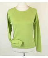 Apple Green 100% Cashmere Size S M Jewel Neck Sweater Mint - $20.99