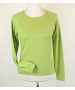 Apple Green 100% Cashmere Size S M Jewel Neck S... - $20.99