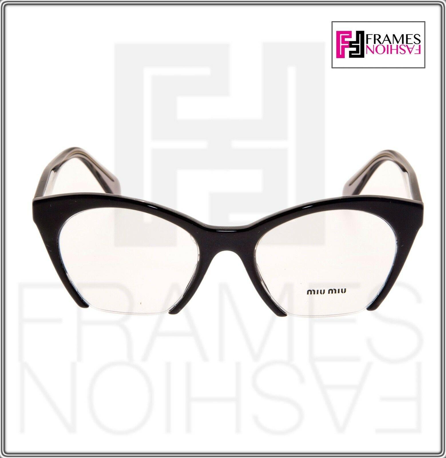 MIU MIU RASOIR MU03QV Eyeglasses Optical Frame Black Grey Translucent 51mm 03Q image 6