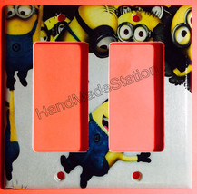 Minions Help me up Light Switch Power Duplex Outlet Wall Cover Plate Home decor image 4