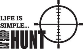 Hunt 3/271 Decal Vinyl Graphic Gun Rifle Van  Vehicle  Cross Over  Truck Suv - $16.99