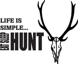 Hunt 3/273 Decal Vinyl Graphic Gun Rifle Van  Vehicle  Cross Over  Truck Suv - $16.99
