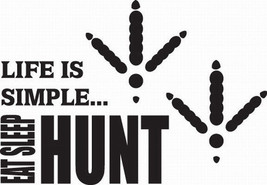 Hunt 3/274 Decal Vinyl Graphic Gun Rifle Van  Vehicle  Cross Over  Truck Suv - $16.99