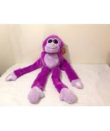 Fiesta Plush Monkey Stuffed Animal Toy Fuchsia Purple w Tummy Belly Soun... - $39.99