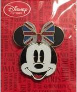 Disney Minnie Mouse with Union Jack UK Bow UK Disney Store pin - $14.69