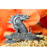 Vintage MS Sea Venture Seahorse Dragon Cruise Ship Souvenir Brooch Pin - $44.95