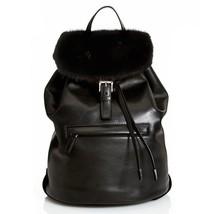 NEW PRADA Soft Calf Leather & Mink Fur Backpack... - $1,895.00