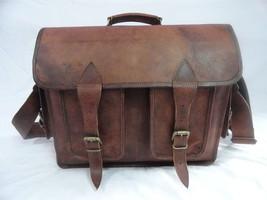16x12' Men's Vintage Leather DSLR Camera Bag Padded Briefcase Macbook Satchel image 4