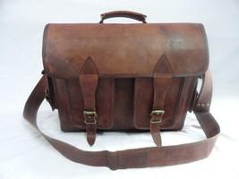 16x12' Men's Vintage Leather DSLR Camera Bag Padded Briefcase Macbook Satchel image 2